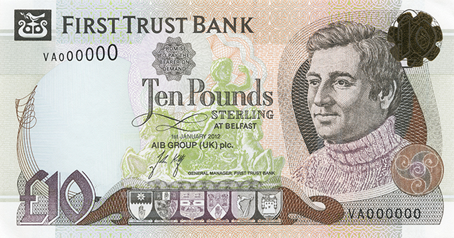 First Trust Bank £10 Note
