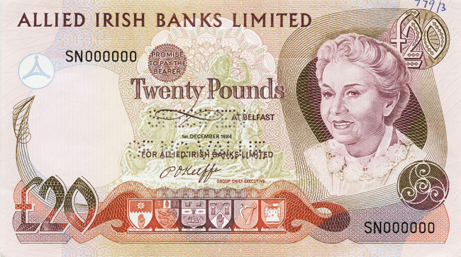 Allied Irish Banks Limited £20 Note