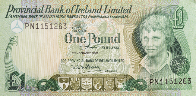 Provincial Bank of Ireland Limited £1 Note