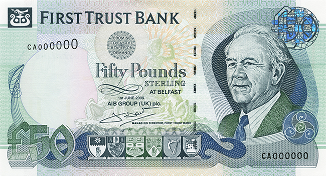First Trust Bank £50 Note