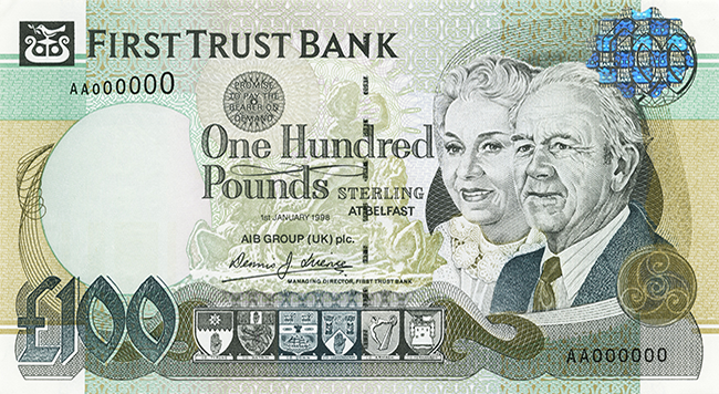 First Trust Bank £100 Note