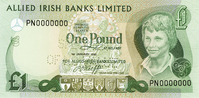 Allied Irish Banks Limited £1 Note